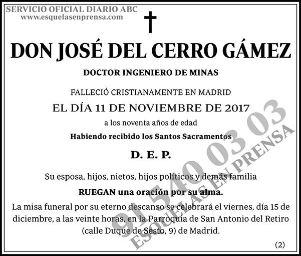José del Cerro Gámez